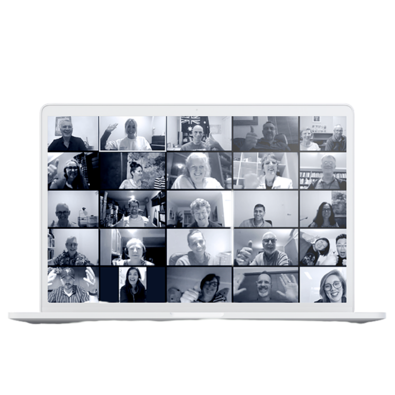 People on video conference